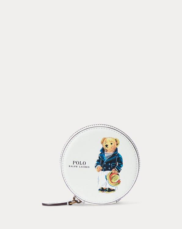 Polo Bear Leather Coin Pouch