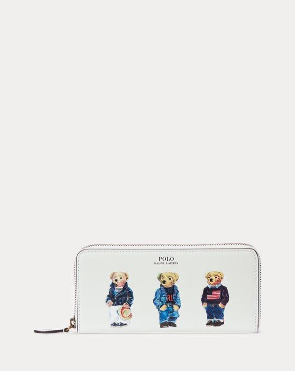 Lederbrieftasche mit Polo Bear