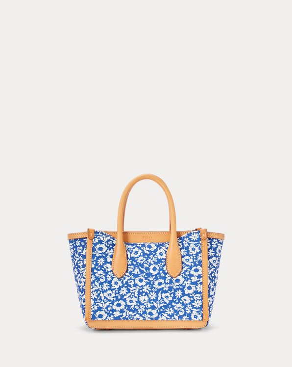 Canvas Floral Mini Sloane Satchel