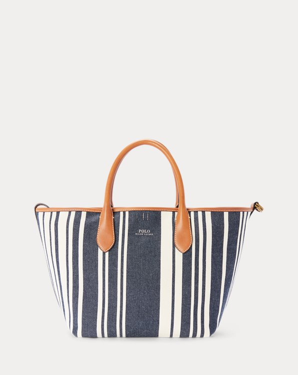 Canvas Striped Medium Bellport Tote