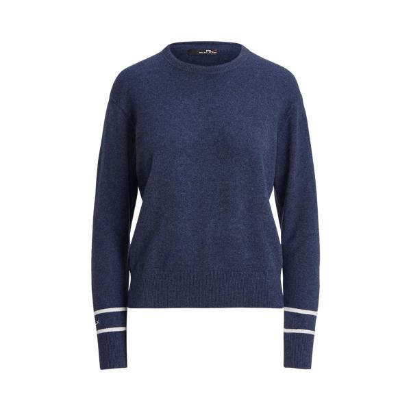폴로 랄프로렌 Polo Ralph Lauren Washable Cashmere Sweater,Spring Navy Heather/Cream