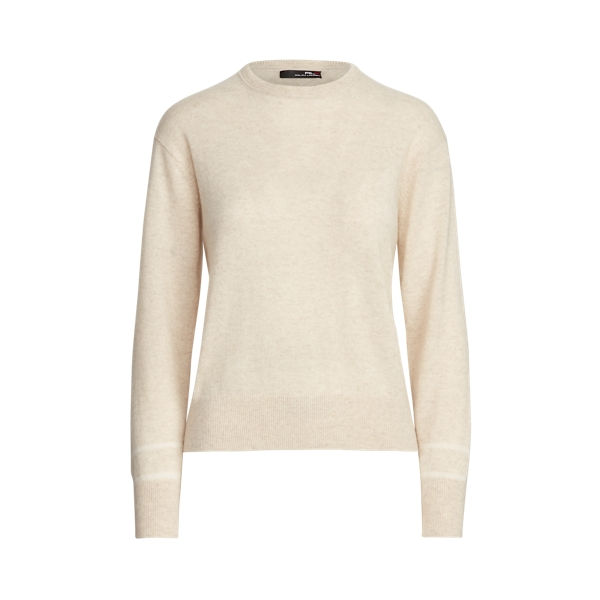 폴로 랄프로렌 Polo Ralph Lauren Washable Cashmere Sweater,Panama Heather/Cream