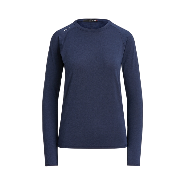 폴로 랄프로렌 Polo Ralph Lauren Performance Jersey Long Sleeve Golf Tee,Spring Navy Heather