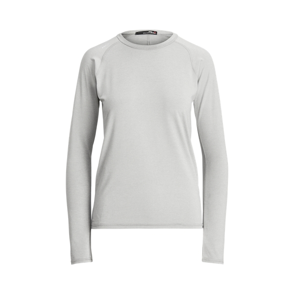 폴로 랄프로렌 Polo Ralph Lauren Performance Jersey Long Sleeve Golf Tee,Light Grey Heather