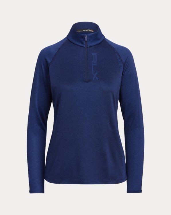 Jacquard Quarter-Zip Pullover