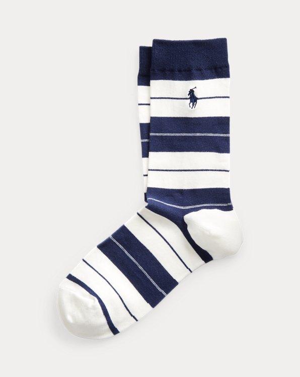 Nautical-Stripe Crew Socks
