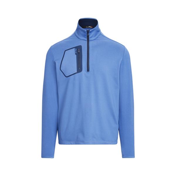 Ralph Lauren Performance Jersey Pullover In Bastille Blue