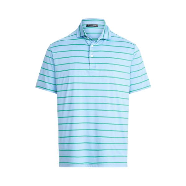 Ralph Lauren Classic Fit Performance Polo Shirt In Blue Lagoon/course Green
