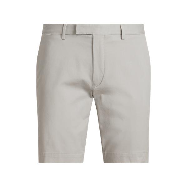 Ralph Lauren 9-inch Stretch Slim Fit Chino Short In Gray