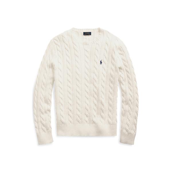 폴로 랄프로렌 맨 꽈배기 니트 스웨터 - 크림 (윤계상 착용) Polo Ralph Lauren Cable Knit Cotton Sweater,Andover Cream 515061