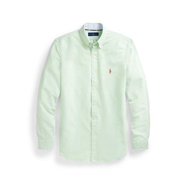 Ralph Lauren Slim Fit Oxford Shirt In Green