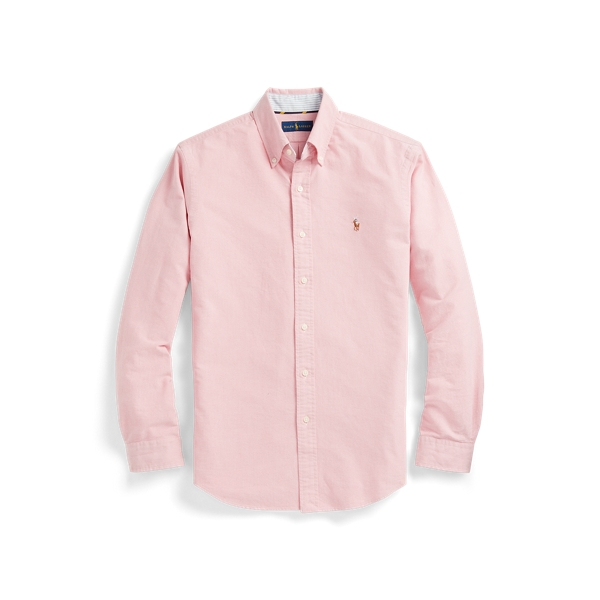 Ralph Lauren Slim Fit Oxford Shirt In Sunrise Red