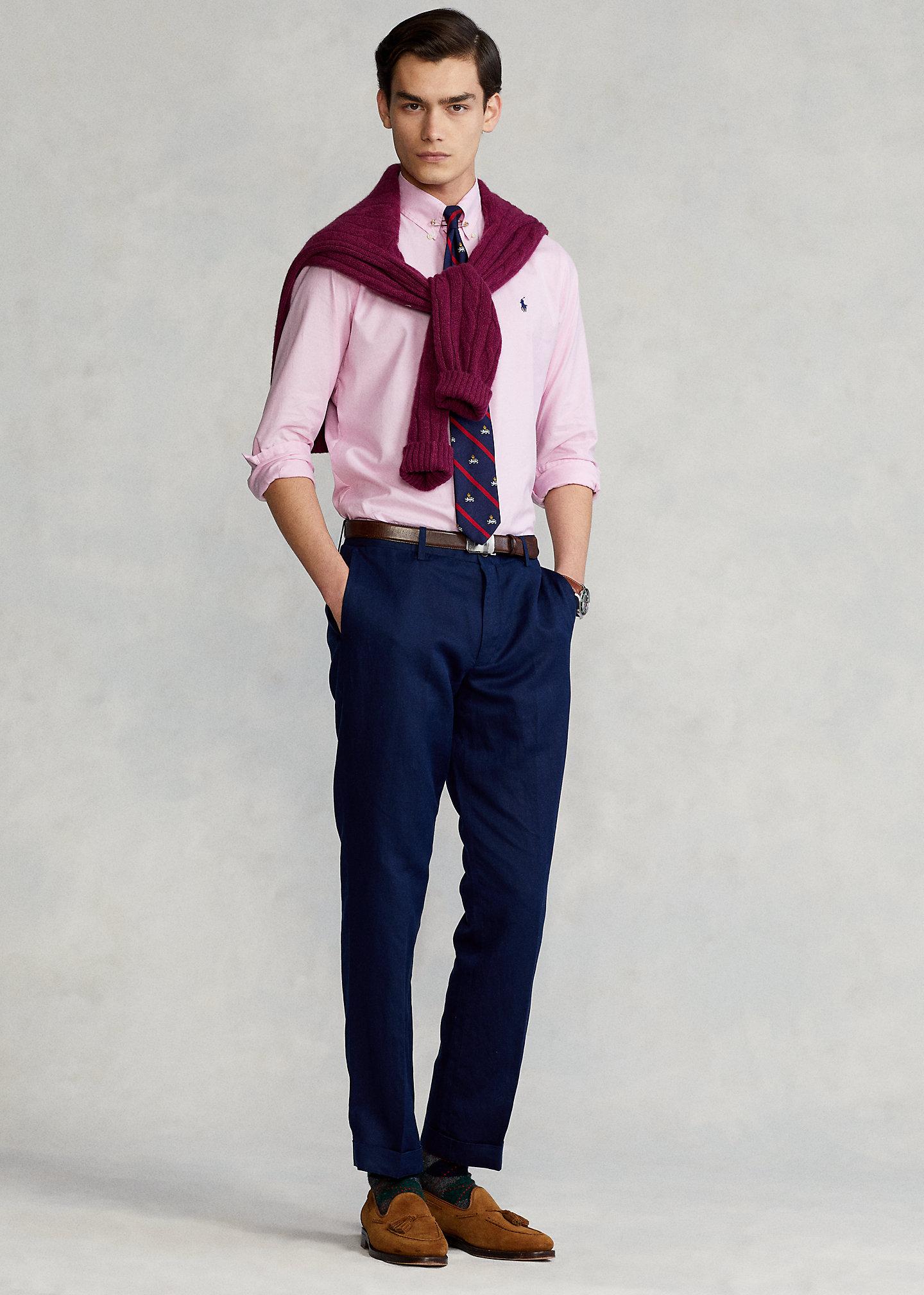 PoloRalphLauren Straight Fit Linen-Blend Pant