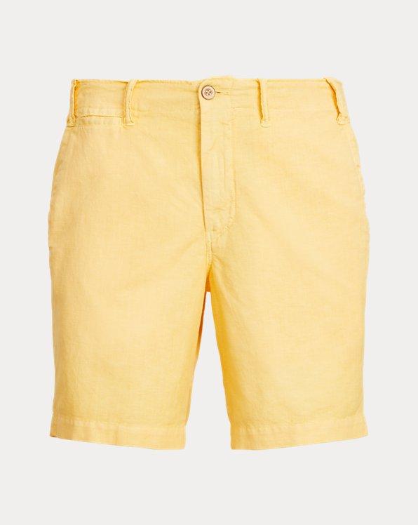 8-Inch Straight Fit Linen-Blend Short