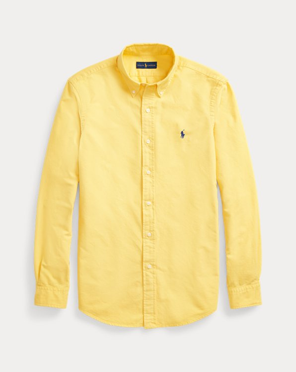 Gefärbtes Slim-Fit Oxfordhemd