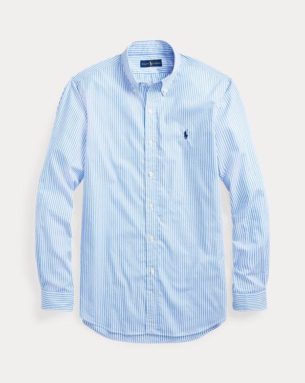 Slim-Fit Popelinehemd mit Streifen