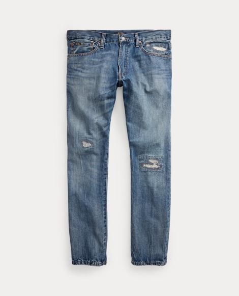 Varick Slim Straight Distressed Jean
