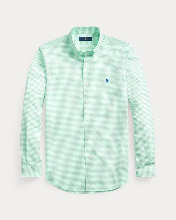 Classic Fit Striped Poplin Shirt