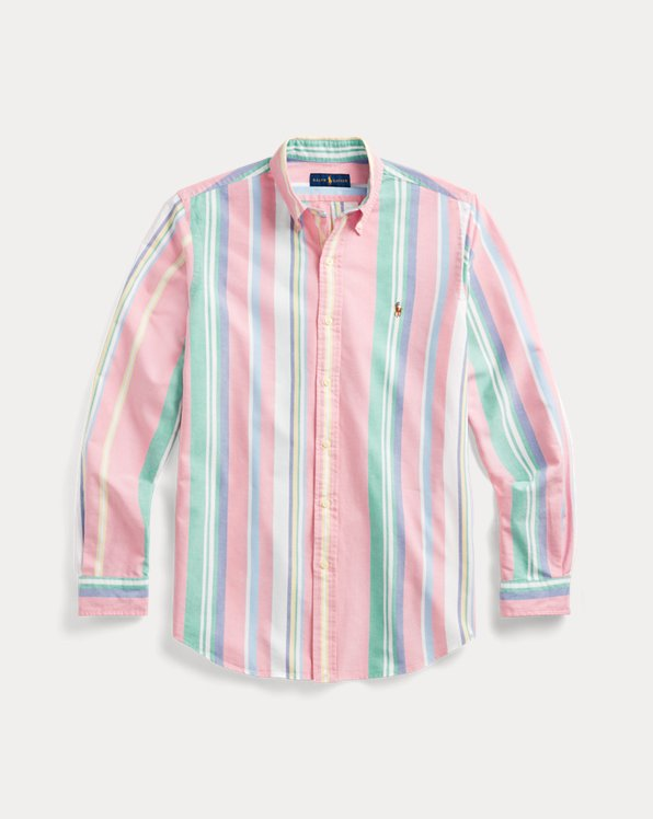 Classic Fit Striped Oxford Shirt