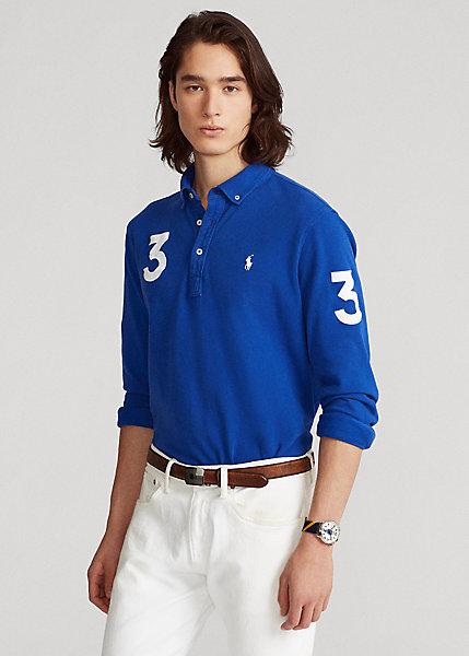 Polo Ralph Lauren Classic Fit Mesh Long Sleeve Polo Shirt