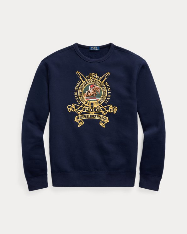 Embroidered Fleece Sweatshirt