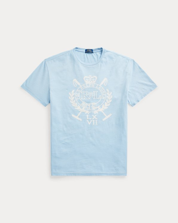 Classic-Fit Jersey-T-Shirt mit Wappen