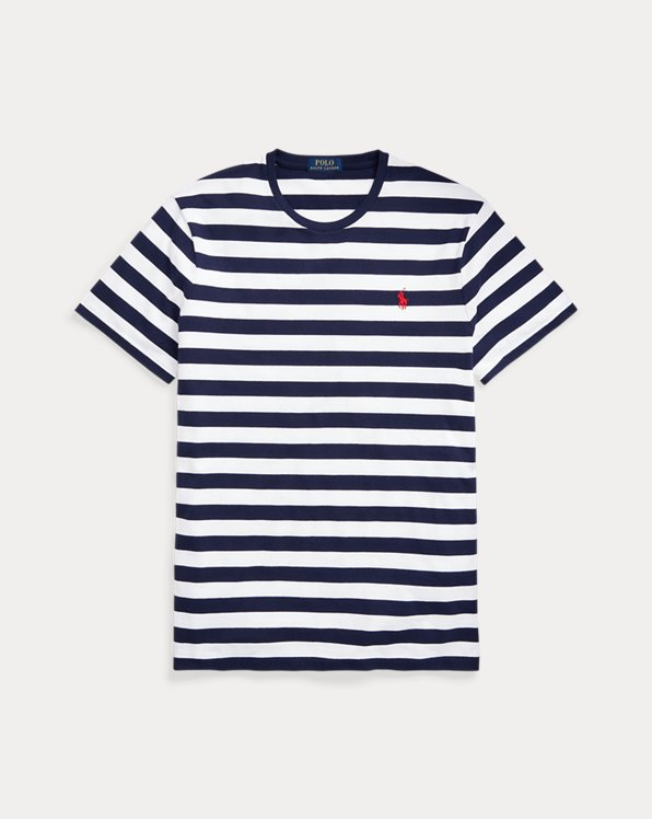 Custom Slim Fit Striped Jersey T-Shirt