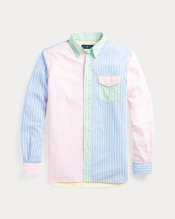 Classic Fit Striped Oxford Fun Shirt