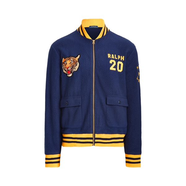21SS 폴로 랄프로렌 타이거 플리스 봄버 자켓 - 네이비 Polo Ralph Lauren Polo Tiger Fleece Bomber Jacket