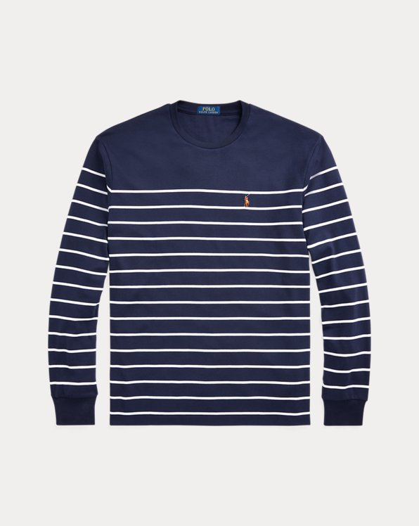 Classic Fit Striped Soft Cotton T-Shirt