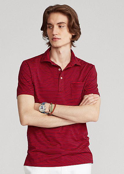 Polo Ralph Lauren Custom Slim Striped Jersey Polo Shirt