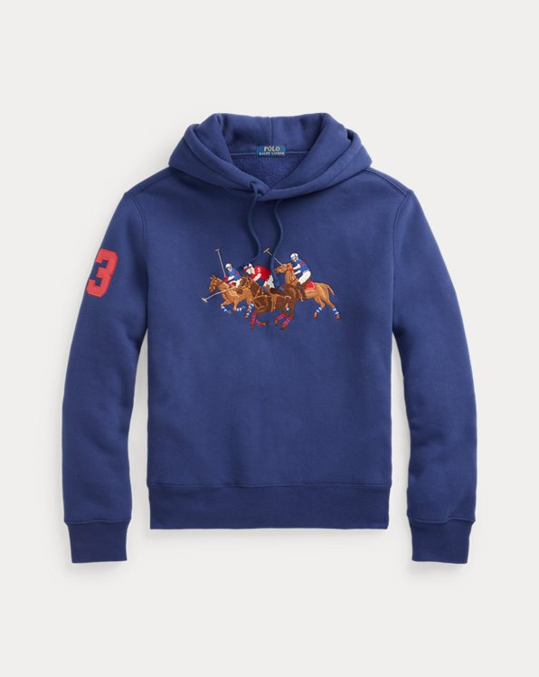 Triple-Pony Crest Fleece Hoodie