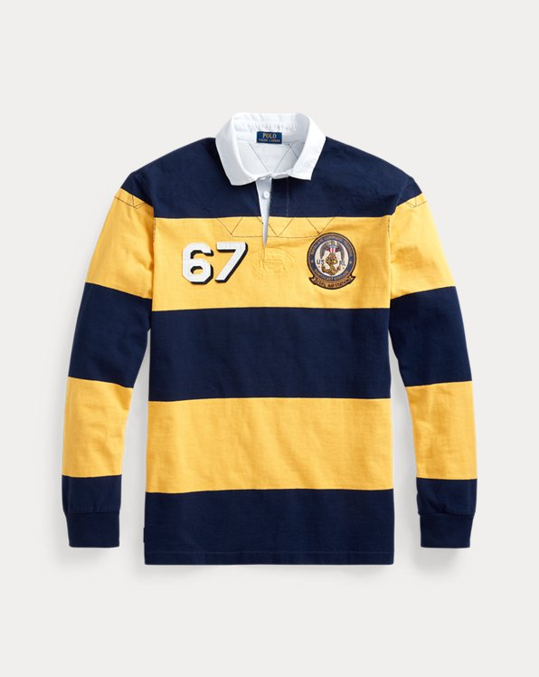 Classic Fit Striped Rugby Shirt