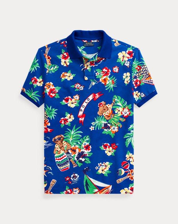 Classic Fit Polo Bear Mesh Polo Shirt