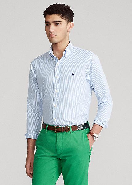 Polo RalphLauren Custom Fit Striped Stretch Oxford Shirt