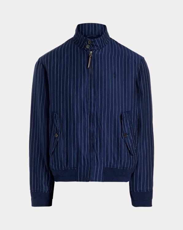 Pinstripe Linen-Blend Twill Jacket