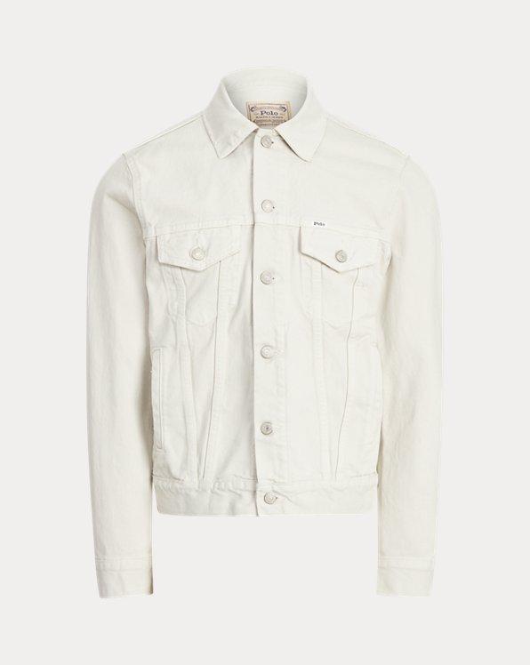 Garment-Dyed Denim Trucker Jacket