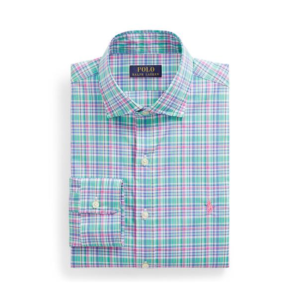 폴로 랄프로렌 셔츠 (슬림핏) Polo Ralph Lauren Slim Fit Poplin Shirt,Green/Blue Multi