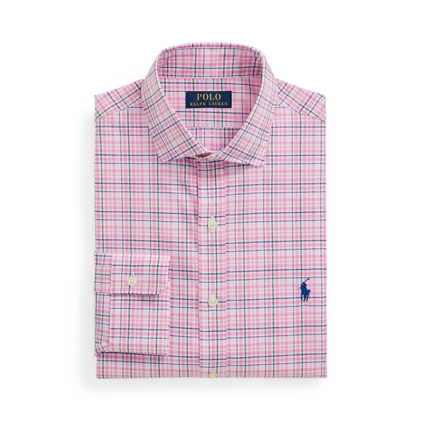 폴로 랄프로렌 셔츠 (슬림핏) Polo Ralph Lauren Slim Fit Poplin Shirt,Pink/Green Multi