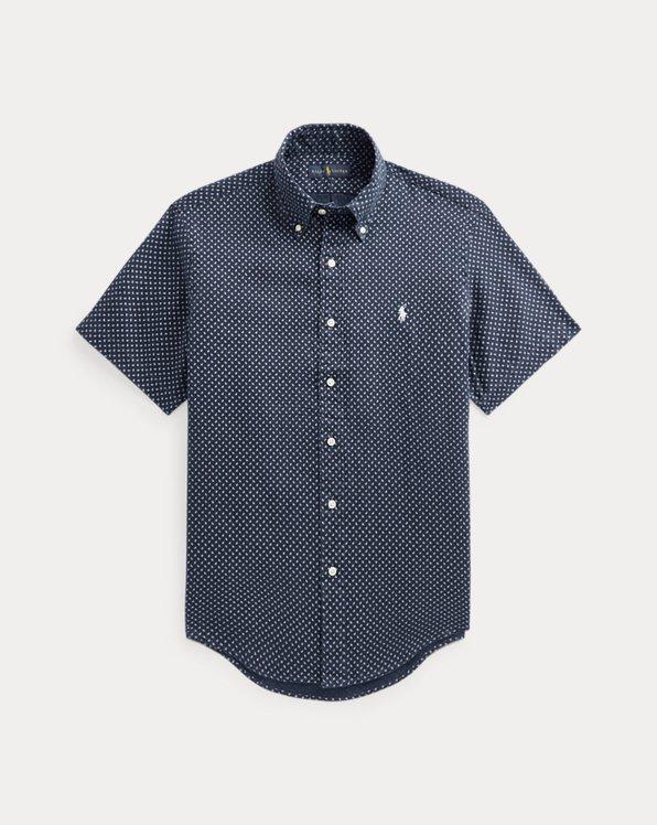 Classic Fit Mini-Paisley Linen Shirt