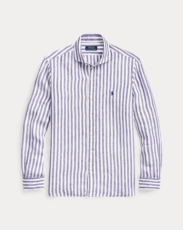 Classic Fit Striped Linen Shirt