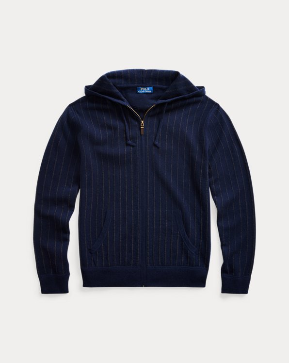 Pinstripe Washable Cashmere Jumper