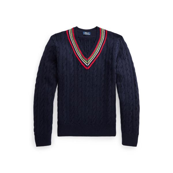 폴로 랄프로렌 맨 67 크리켓 스웨터 Polo Ralph Lauren The 67 Cricket Sweater,Navy Multi