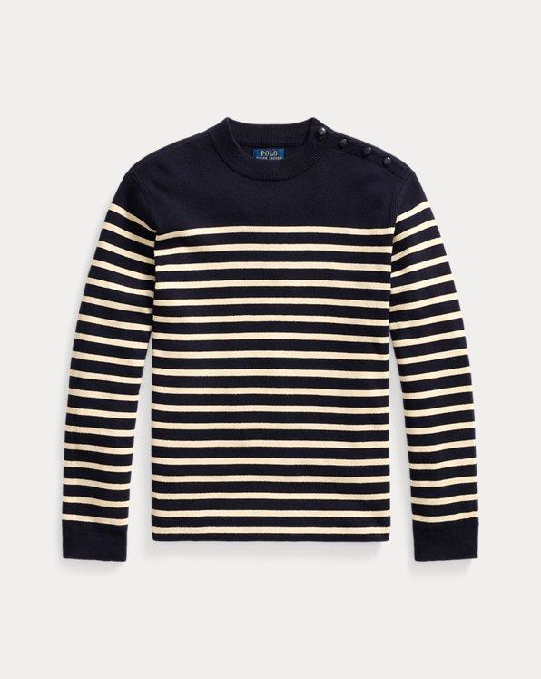 Striped Cotton-Cashmere Crewneck Jumper