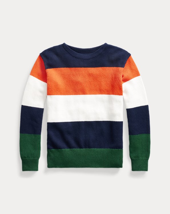 Striped Cotton-Linen Crewneck Jumper