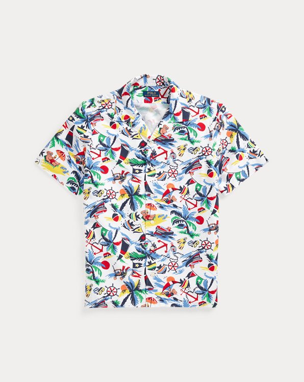 Classic Fit Polo Bear Oxford Camp Shirt