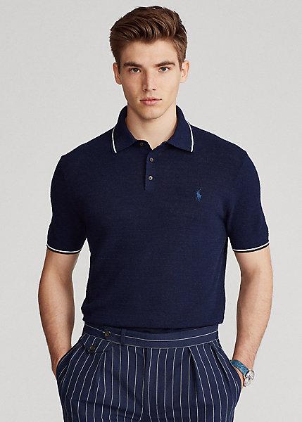 Polo Ralph Lauren Cotton Linen Polo Collar Sweater