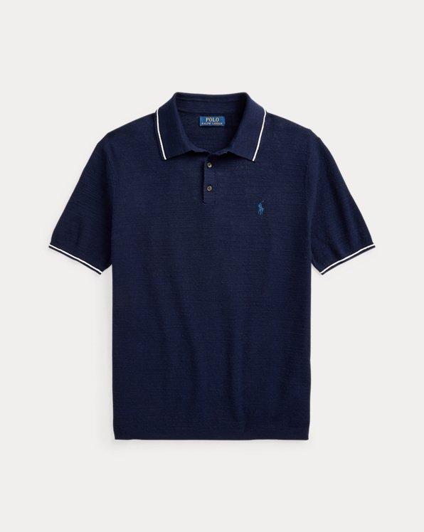 Cotton-Linen Polo-Collar Jumper