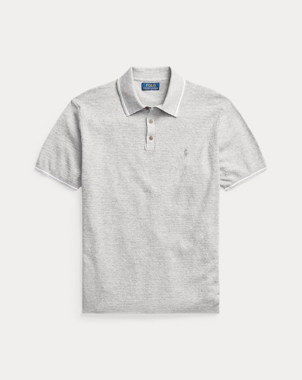Cotton-Linen Polo-Collar Jumper