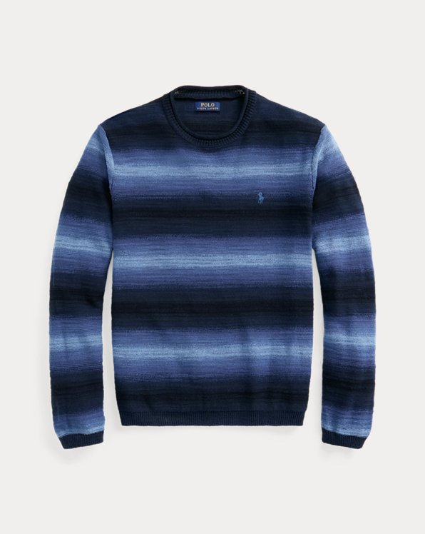 Striped Cotton-Linen Crewneck Jumper